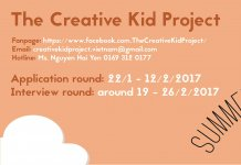 Tuyển BTC the Creative Kid Project 2017