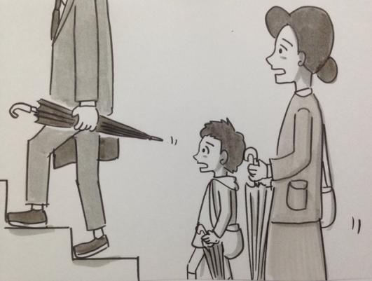 Họa sĩ Nhật hướng dẫn cách mang theo ô dù đúng cách để không gây nguy hiểm cho người khác